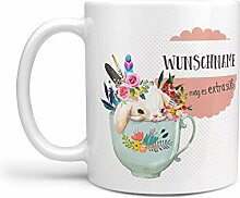 Sunnywall® Tasse Wunschname Hase in Tasse
