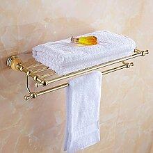 SUNQIAN jade, kupfer, goldene handtuchhalter, bad, europäischen stil handtuch kleiderbügel, bad rack, hardware - anhänger