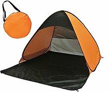Sunray Automatische Pop Up Strandmuschel Zelt Wurfzelte Shelter, UV 50+ Sonnenschutz, Windstabil (Orange + Schwarz)