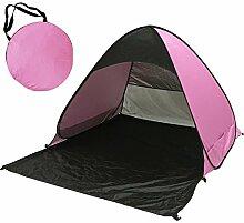Sunray Automatische Pop Up Strandmuschel Zelt Wurfzelte Shelter, UV 50+ Sonnenschutz, Windstabil (Rosa + Schwarz)