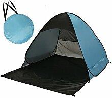 Sunray Zelt Strandzelt Automatische Pop Up Wurfzelte, Baby Zelt, UV 50+ Sonnenschutz, Sommerurlaub und Schwimmbad, Strand, Garten oder im Gras (Blau + Schwarz)