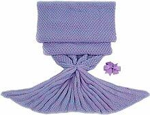 """Sunroom Kinderschlafsack /-schlafdecke / -überwurf in Meerjungfrau-Design für Mädchen, Baumwollmischung, violett, 140 * 70cm(55.2"""" * 27.5"""")"""