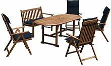 Sunset Garden SG125 Haven | Real Wood | 6-Piece