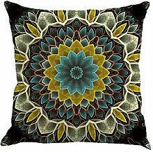 Sunshay Home Decoration Pillow Bohemian Style Pattern Linen Pillow Car Sofa Seat Cushion Pillow Case