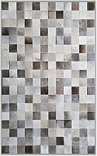 Sunshine Cowhides Teppich aus Kuhfell Patchwork,