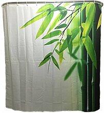 Sunshine Duschvorhang Bambus Wannenvorhang mit 12