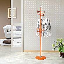 SUNSHINE Metall Kleiderbügel Modern Minimalist Steh Vertikale Kleiderregale Kleiderbügel Lagerung Regale 7 Rotierenden Haken ( Farbe : Orange )
