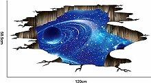 SUNSK 3D Kosmischen Raum Galaxie Boden Aufkleber
