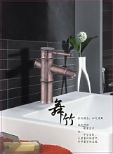 Sunsui das Kupfer kalt Wasser rot Antike retro Europäischen Bambus Waschbecken Waschtisch Waschtisch Armatur