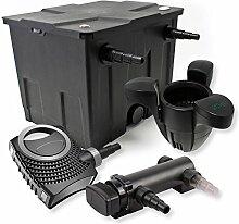 SunSun 1-Kammer Filter Set 12000l 18W UVC 3er Teich Klärer NEO8000 70W Pumpe Skimmer