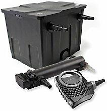 SunSun 1-Kammer Filter Set 12000l 24W UVC 3er Teich Klärer NEO8000 70W Pumpe