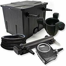 SunSun 1-Kammer Filter Set 12000l 36W UVC Teich Klärer NEO8000 70W Pumpe Schlauch Skimmer