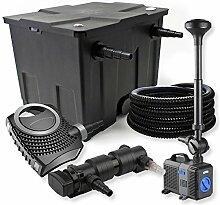 SunSun 1-Kammer FilterSet 12000l 18W UVC Teich Klärer NEO7000 50W Pumpe Schlauch Springbrunnen