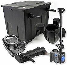 SunSun 1-Kammer FilterSet 12000l 24W UVC Teich Klärer NEO7000 50W Pumpe Springbrunnen Skimmer