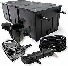 SunSun 3-Kammer Filter Set 90000l 18W UV Teich Klärer NEO7000 50W Pumpe Schlauch Skimmer