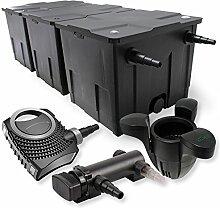 SunSun 3-Kammer Filter Set 90000l 18W UVC 3er Teich Klärer NEO8000 70W Pumpe Skimmer
