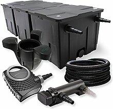 SunSun 3-Kammer Filter Set 90000l 18W UVC Teich Klärer NEO8000 70W Pumpe Schlauch Skimmer