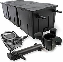 SunSun 3-Kammer Filter Set 90000l 24W UVC 3er Teich Klärer NEO7000 50W Pumpe Skimmer