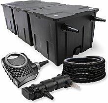 SunSun 3-Kammer Filter Set 90000l 24W UVC 6er Teich Klärer NEO8000 70W Pumpe Schlauch