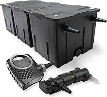 SunSun 3-Kammer Filter Set 90000l 24W UVC 6er Teich Klärer NEO8000 70W Pumpe