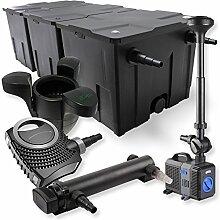 SunSun 3-Kammer Filter Set 90000l 24W UVC Teich Klärer NEO8000 70W Pumpe Springbrunnen Skimmer
