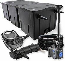 SunSun 3-Kammer Filter Set 90000l 24W UVC Teich Klärer NEO8000 70W Pumpe Schlauch Springbrunnen