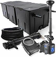 SunSun 3-Kammer Filter Set 90000l 36W UVC Teich Klärer NEO10000 80W Pumpe Schlauch Springbrunnen