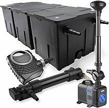 SunSun 3-Kammer Filter Set 90000l 36W UVC Teich Klärer NEO10000 80W Pumpe Springbrunnen