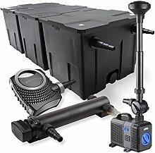 SunSun 3-Kammer Filter Set 90000l 36W UVC Teich Klärer NEO8000 70W Pumpe Springbrunnen