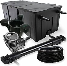 SunSun 3-Kammer Filter Set 90000l 72W UVC Teich Klärer NEO10000 80W Pumpe Schlauch Skimmer