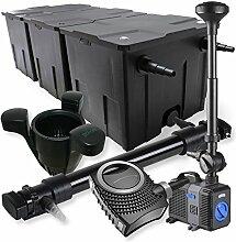 SunSun 3-Kammer Filter Set 90000l 72W UVC Teich Klärer NEO10000 80W Pumpe Springbrunnen Skimmer