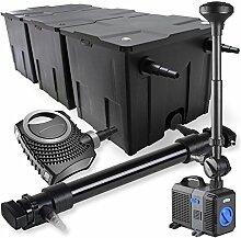 SunSun 3-Kammer Filter Set 90000l 72W UVC Teich Klärer NEO10000 80W Pumpe Springbrunnen