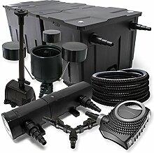 SunSun Filter Set 90000l Teich 18W Teichklärer NEO8000 70W Pumpe 25m Schlauch Skimmer Springbrunnen