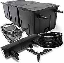 SunSun Filter Set 90000l Teich 24W Teichklärer NEO10000 80W Pumpe 25m Schlauch