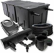 SunSun Filter Set 90000l Teich 24W Teichklärer NEO10000 80W Pumpe 25m Schlauch Skimmer SK30