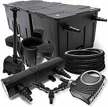 SunSun Filter Set 90000l Teich 36W Teichklärer NEO10000 80W Pumpe 25m Schlauch Skimmer Springbrunnen