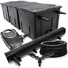 SunSun Filter Set 90000l Teich 72W Teichklärer NEO10000 80W Pumpe 25m Schlauch