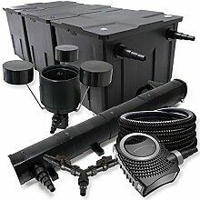 SunSun Filter Set 90000l Teich 72W Teichklärer NEO10000 80W Pumpe 25m Schlauch Skimmer