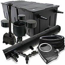 SunSun Filter Set 90000l Teich 72W Teichklärer NEO8000 70W Pumpe 25m Schlauch Skimmer Springbrunnen