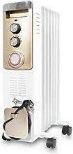 SUNTEC Öl-Radiator Heat Safe 1500 PTC-Turbo [Für Räume bis 55 m³ (~23 m²)*, 7 Heizlamellen, 3 Heizstufen + Thermostat, Turboheizgebläse, 24 h Timer, max. 1900 W]