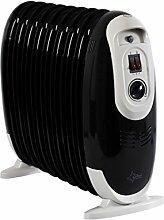 SUNTEC Radiator Heat Safe Compact 1200 [Für Räume bis 80 m³ (~32 m²) geeignet, 3 Heizstufen, Überhitzungsschutz, 1200 Watt]