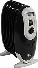 SUNTEC Radiator Heat Safe Compact 600 schwarz [Für Räume bis 45 m³ (~19 m²), 3 Heizstufen, Überhitzungsschutz,  600 Watt]