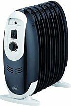 SUNTEC Radiator Heat Safe compact black 900 [Für Räume bis 45 m³ (~19 m²), 3 Heizstufen, Überhitzungsschutz, max. Heizleistung 900 Watt]