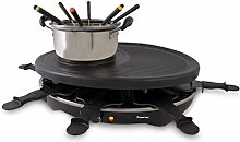 Suntec Wellness RAC-8458 Raclette-Fondue-Set, 2 in