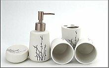 SUOVK Zahnbürstenhalter Haushaltsprodukte Keramik