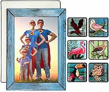 SUPCOOKI 7 schöne Glas-Kühlschrank-Magnete,