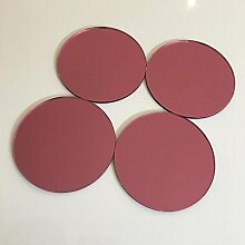 Super Cool Creations Circular Fliesen -, Pink Mirror, Pack of 10-15cm Diameter