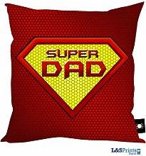Super Dad Rot Design Kissen Ideales Geschenk Geburtstag Vatertag Geschenkidee