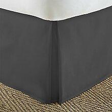 Super Fadenzahl 10001Stück Bett Rock anthrazit grau massiver Einzelbett Großbritannien lang Set 100% ägyptische Baumwolle extra tief Tasche (12Zoll) von TRP Bla