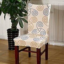 Super-Fit Stretch Herausnehmbare waschbare Kurzesszimmerstuhl Abdeckungs-Schutz-Sitzschonbezug für Hotel, Esszimmer, Feierliche Veranstaltung, etc. (Farbe 31)